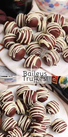 Easy and Delicious Baileys Truffles with Milk & Dark Chocolate and a drizzle!