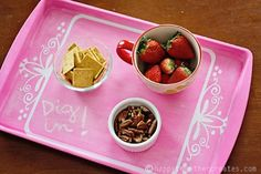 Chalkboard breakfast tray from a cookie sheet - Touch of Paint: 25 DIYs for the Home
