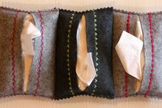 Growing Home: Simple Felt Tissue Pouches