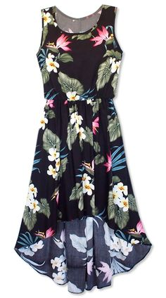 koolau black hawaiian sassy dress #hawaiiandress #lavahut