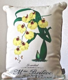 THRO BY MARLO LORENZ PILLOW DECORATIVE ORCHARD INDOOR/OUTDOOR GREEN YELLOW NEW #THRObyMarloLorenz #THRO13192001