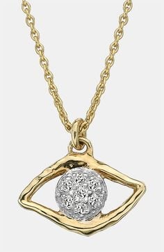 Whitney Stern Evil Eye Pendant Necklace available at #Nordstrom