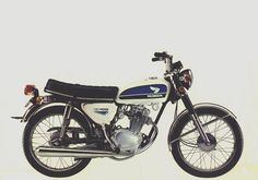 Honda - poster/ad for one just like mine. Classic Honda Motorcycles, Small Motorcycles, Honda Bikes, Classic Motorcycle, Honda Cb 100, Motorcross Bike, Motorcycle Posters, Suzuki Jimny, Classic Bikes