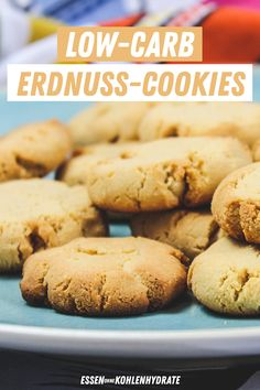 Low-Carb Erdnuss-Cookies - Fashion and Recipes Cookies Oreo, Low Carb Cookies, Low Carb Sweets, Protein Cookies, Sweet Cookies, Nutrition Program, Group Meals, Low Carb Keto, Diet Recipes