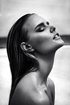 model | wet hair | beautiful | shoot | editorial |