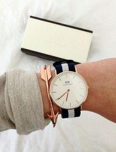 Dieses Armband ist der absolute Hingucker und hebt deine Lieblingsuhr hervor! Ob es nun die von Daniel Wellington oder jemand anderes ist. | Stylefeed