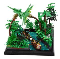 Venturing Up River - Lego - Bateau Pirate Lego, Lego Pirate Ship, Lego Ship, Lego Modular, Lego Design, Lego Creator, Lego Friends, Lego Ninjago, Legos