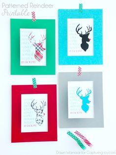 Patterned Reindeer Printables