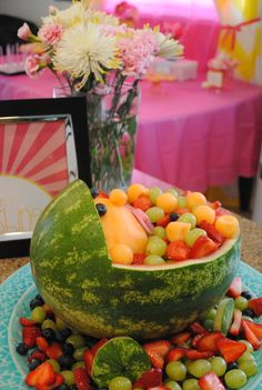Watermelon salad at a Baby Shower #babyshower #watermelon ...I'll take the plate, hide in a corner and finish it. It was never there.