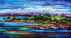 In the Grand Scheme of Things, oil landscape painting by Kimberly Kiel | Effusion Art Gallery + Cast Glass Studio, Invermere BC Sky Painting, Painting For Kids, Dance Paintings, Landscape Paintings, Modern Art, Contemporary Art, Wedding Painting, Cast Glass, Mountain Paintings