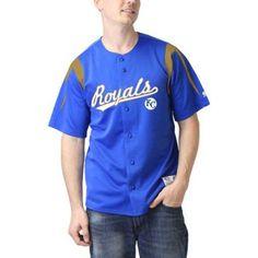 MLB Kansas City Royals Men's Color Block Jersey, Size: XL, Blue