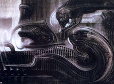 Hans Rüdi Giger: N Y City II Lovecraft over N.Y.C