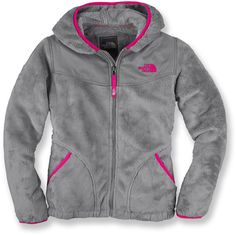 Gray and pink Northface <3