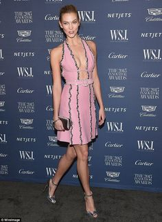 We're OKK with her: On Wednesday as Karlie Kloss looked incredible in a low cut pink dress...