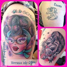 https://www.facebook.com/VorssaInk, http://tattoosbykata.blogspot.fi, #tattoo #tatuointi #katapuupponen #vorssaink #forssa #finland #traditionaltattoo #suomi #oldschool #pinup #straycats
