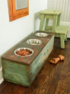 DIY Pet Feeding Station