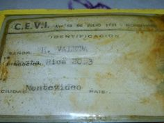 Carlos Valleta's luggage tag found years later.