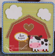 Jen's Scraptography: Cow Birthday Card