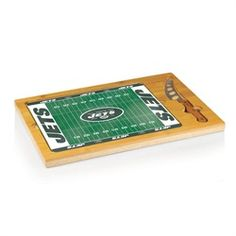 New York Jets NY Glass Top Cutting Board