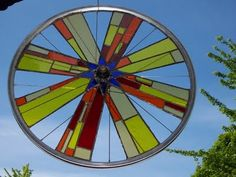 Bicycle wheel stain glass