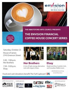 AAC & Envision Financial present a special double concert at House of James starting at 5:30PM with Her Brothers followed by Elsay at 7:30PM