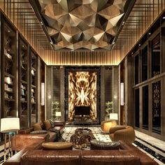 Luxury Interior Design Ideas: 7 Steps to Create a Luxury Living Space Mansion Interior, Luxury Homes Interior, Luxury Home Decor, Interior Architecture, Luxury Hotel Design, Hotel Lobby Design, Luxury Hotels, Home Design, Home Interior Design