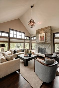 23 Stunning Modern Living Room Design Ideas more furniture placement