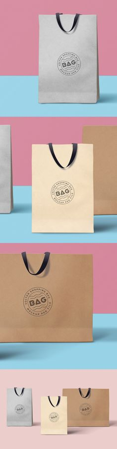 Have a nice weekend with an elegant set of 3 ‪FREE‬ Shopping Bags ‪PSD‬ ‪Mockup‬! Use it to showcase your merchandising brand identity designs Hope you guys like it! Brand Identity Design, Branding Design, Logo Design, Graphic Design, Joomla Templates, Mockup Templates, Photoshop Design, Free Photoshop, Web Design