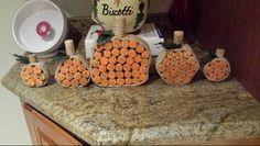 Wine cork pumpkins fall