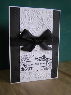 Keep It Simple Silly :) black and white card.
