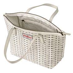 Wicker Small Leather Trim Tote Cath Kidston Bags, Best Sellers, Wicker, Leather, Shopping, Women, Loom, Woman