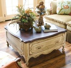 French Country Style Coffee Table Furniture Refinishing Chalk Paint On Lowes