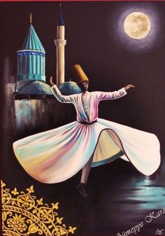 Discover the Top 25 Most Inspiring Rumi Quotes: mystical Rumi quotes on Love, Transformation and Wisdom. Moroccan Art, Turkish Art, Islamic Calligraphy, Calligraphy Art, Islamic Paintings, Arabic Art, Sewing Art, Egyptian Art, Dance Art