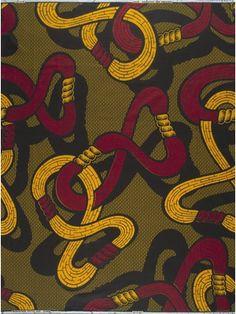 Vlisco African wax block print fabric