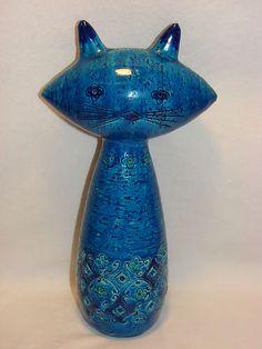 VINTAGE ALDO LONDI FOR RAYMOR BITOSSI STUDIO ART POTTERY CAT MID CENTURY