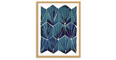 This piece from artist Kate Roebuck features stacked geometric tiles, each rendered with an incredible depth of color. This is a reproduction of Roebuck's original work, printed on fine-art paper,...