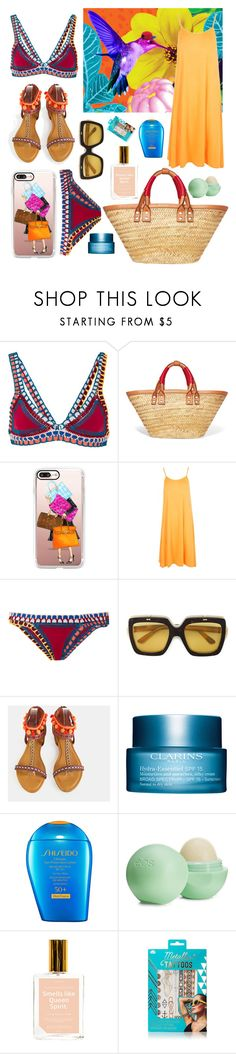 """""""Tropical"""" by beelovem ❤ liked on Polyvore featuring kiini, Balenciaga, Casetify, Boohoo, Gucci, Clarins, Shiseido, Eos, Anese and Charlotte Russe"""