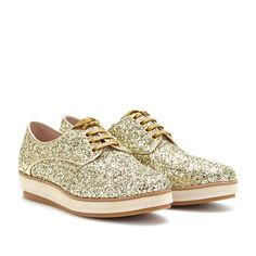 17aa53b79c1ccc GLITTER LACE-UP LOAFERS Miu Miu Sneaker