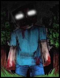 creepypasta picture of herobrine Minecraft Posters, Minecraft Comics, Minecraft Fan Art, How To Play Minecraft, Minecraft Skins, Spideypool, Pokemon, Fanart, Minecraft Creations