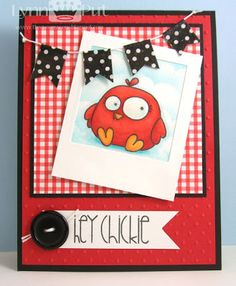 Paper Smooches - Chubby Chums Hey Chickie Card by Lynn Put #papersmooches