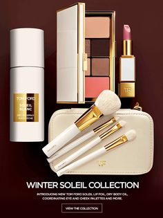 Introducing new TOM FORD Soleil Lip Foil, Dry Body Oil, coordinating Eye and Cheek Palettes and more. Cosmetic Packaging, Beauty Packaging, Dry Body Oil, Tom Ford Makeup, 2017 Makeup, Makeup Trends, Tom Ford Beauty, Toms, High End Makeup