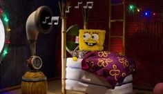 Spongebob getting ready for his Christmas special on Nickelodeon
