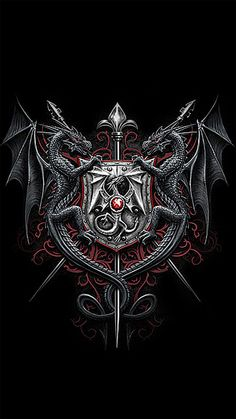 WALLPAPERS - Gothic, skulls, death, fantasy, erotic and animals: May 2012 Here Be Dragons, Dragones Wallpaper, Celtic Dragon, Viking Dragon, Viking Sword, Gothic Wallpaper, Bling Wallpaper, Dragon Pictures, Art Pictures