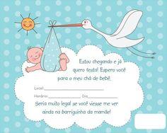 Lindos Modelos de Convites para o Chá de Bebê ou Fraldas para Download