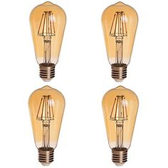 HERO-LED Gold Tint ST18 E26/E27 6W Edison Style LED Vintage Antique Filament Bulb,60W Squirrel Cage Nostalgic Tungsten LED Incandescent Replacement Bulbs, 4-Pack, Ultra Warm White 2200K (Not Dimmable) HERO-LED  http://www.amazon.com/dp/B0132NNDR8/ref=cm_sw_r_pi_dp_t-jAwb0YDV40Z