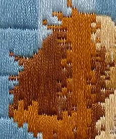 hand embroidery ;hand embroidery tutorial;Scroll stitch. | вышивка | Постила Shag Rug, Embroidery, Rugs, Home Decor, Shaggy Rug, Farmhouse Rugs, Blanket, Interior Design, Drawn Thread