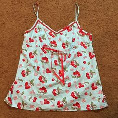 Nick & Nora Cherries Pajama Camisole Top Woman's XXL #NickNora #Top Nick And Nora, Cherries, Online Price, Floral Tops, Camisole Top, Pajamas, Best Deals, Women, Fashion