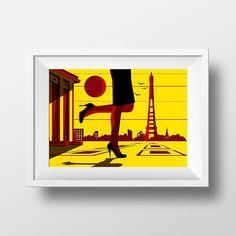 Affiche Illustration Paris  Poster Paris Tour Eiffel