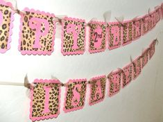Items similar to Personalized Light Pink Leopard Print HAPPY BIRTHDAY & NAME Banner with cupcake - Customize Your Birthday  Banner - Light Pink Leopard Party on Etsy Pink Leopard Party, Pink Leopard Print, Leopard Birthday Parties, Pink Parties, Happy Birthday Name, Girl Birthday, Birthday Ideas, Birthday Decorations, Party Time