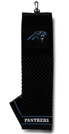 Carolina Panthers Golf Towel 16x22 Embroidered